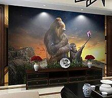 3D Fototapete Wandbilder Affe Selfie Vlies Tapete