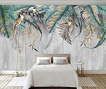 3D Fototapete Wandbilder Blätter Vlies Tapete