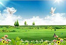 3D Fototapete Wandbilder Blumenwiese Vlies Tapete