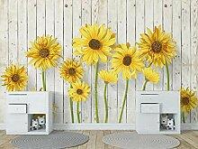 3D Fototapete Wandbilder Einfache Sonnenblume