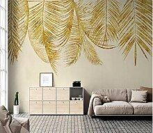 3D Fototapete Wandbilder Goldene Blätter Vlies