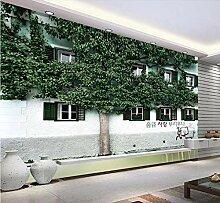 3D Fototapete Wandbilder Großes Baumhaus Vlies