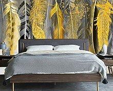 3D Fototapete Wandbilder Moderne goldene Feder