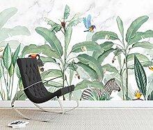 3D Fototapete Wandbilder Pflanze Vogel Vlies