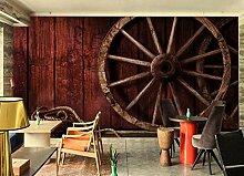 3D Fototapete Wandbilder Roter Jahresring Vlies
