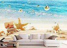 3D Fototapete Wandbilder Strand Seestern Vlies