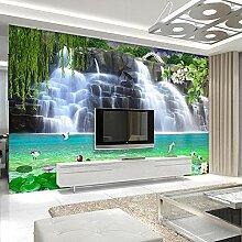 3D Fototapete Wasserfall Landschaft Wandmalerei