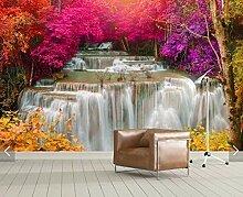3d Fototapete Wasserfall Wandbild Blumentapete