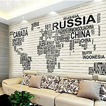 3D Fototapete Ziegel Wandbild Tapete Wohnzimmer