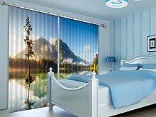 3D-Fotovorhang, Motiv Berg See, 684, Fotovorhang,