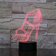 3D Frauen High Heels Nachtlicht 7 Farben Ändern