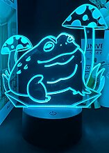 3D Frosch Optische Illusions Lampe 7 Farben