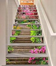 3D Frühling Blumen 37 Stair Risers Dekoration