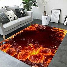 3D Funken Feuerlilie 147 Rutschfest Teppich Matte