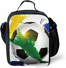 3D-Fußball-Brotdose, isolierte Brotdose Große,