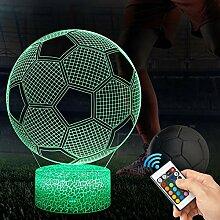 3D Fußball Lampe LED Nachtlicht mit