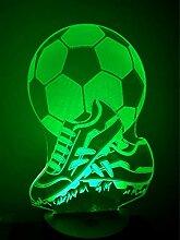 3D Fußball schuhe Optische Illusions Lampe 7