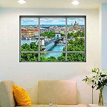 3D Gefälschte Fenster Die Danube City Landschaft