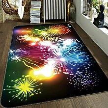 3D Gefärbt Feuerwerk 355 Rutschfest Teppich Matte