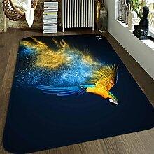 3D Gefärbt Papagei 84 Rutschfest Teppich Matte