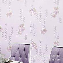 3D geprägte Perle Vlies Tapete warm idyllische Schlafzimmer Wohnzimmer Hintergrundbild , 89033 purple