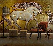 3D geprägte Pferd Tapete für Wohnzimmer