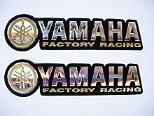 3D gold / chrome YAMAHA stickers decals Aufkleber