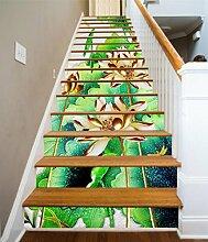 "3D Goldener Lotus Pflanze 694 Stair Risers Dekoration Fototapete Vinyl Aufkleber Tapete DE Carly (13x H:18cm x W:94cm (7""x37""))"
