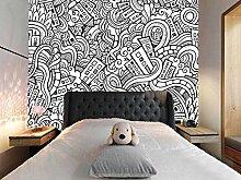 3D Graffiti Muster 113 Tapeten Drucken Abziehbild