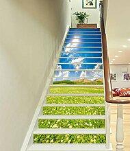 "3D Große blume Pflanze 59 Stair Risers Dekoration Fototapete Vinyl Aufkleber Tapete DE Carly (13x H:18cm x W:94cm (7""x37""))"