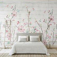 3D Große Tapete Orientalische Kirschblüten