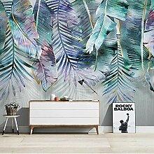 3D Grüne Pflanze Blätter Wandbild Tapete