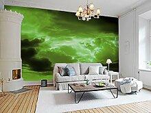 3D Grüne Wolke 426 Tapeten Drucken Abziehbild