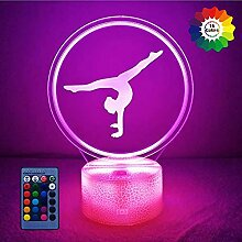 3D Gymnastik Lampe USB Power 7/16 Farben