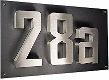 3D-Hausnummer Hausnummerschild Edelstahl New