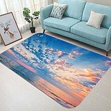 3D Himmel Sonnenlicht Ozean 72 Rutschfest Teppich