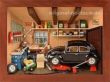 3D Holzbild KFZ-Werkstatt, lasier