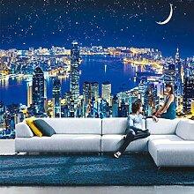 3D Hong Kong Victoria Sternennacht Stadt