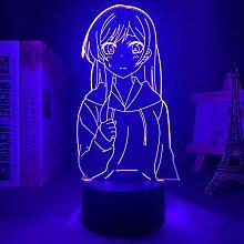 3D Illusion Anime Lampe LED Nachtlicht Kanojo