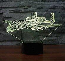 3D Illusion Flugzeug LED Lampe Art Deco Lampe LED