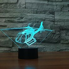 3D Illusion Helikopter LED Lampe Art Deco Lampe