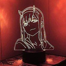 3D Illusion Lamp, Liebling In der Franxx 3d Lampe