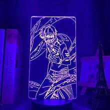 3D Illusion Lampe,3D Nachtlicht 3d Light Anime 3D