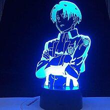 3D Illusion Lampe, Attack On Titan Nachtlicht LED