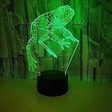 3D Illusion Lampe Frosch 3D Licht Nachtlampe Touch