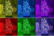 3D Illusion Lampe LED 3D Nachtlicht 3D Lampe The