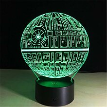 3D Illusion Lampe LED Nachtlicht 7 Farben Touch