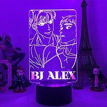 3D Illusion Lampe LED Nachtlicht Anime Bj Alex