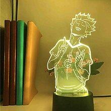 3D Illusion Lampe LED Nachtlicht Anime Haikyuu