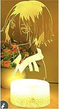 3D-Illusion Lampe LED-Nachtlicht Anime Haikyuu